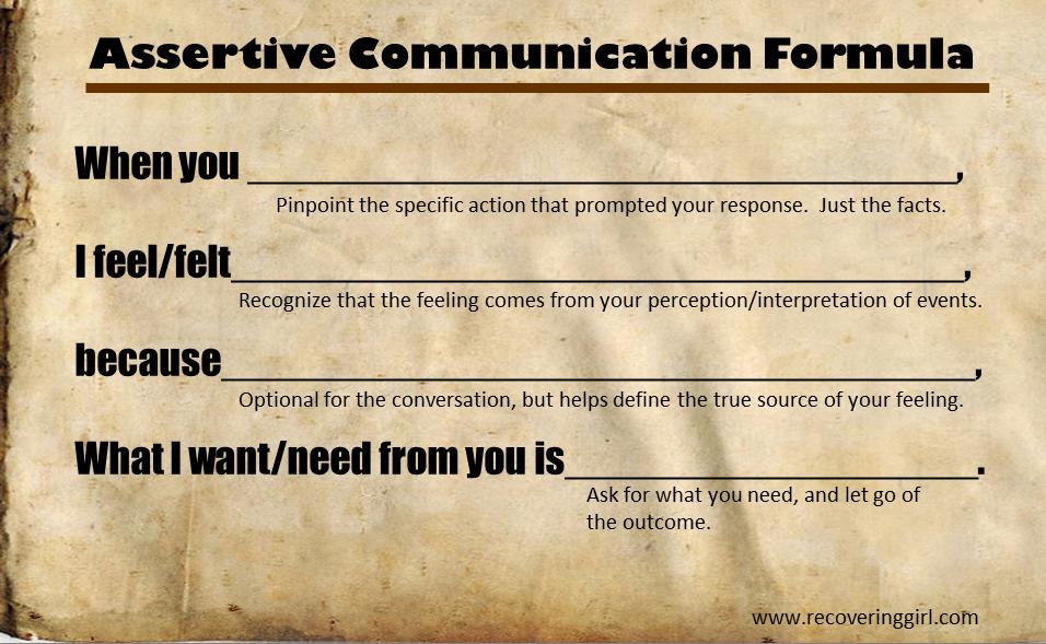 Assertive Communication Worksheet – Assertiveness Worksheets